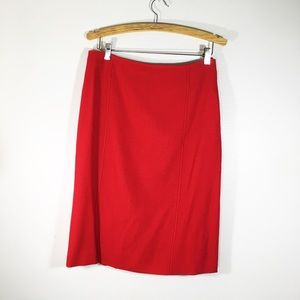 Valentino red wool skirt Sz. 48